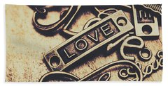 Rustic Love Icons Hand Towel