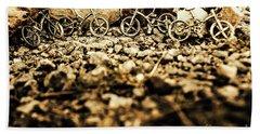 Rustic Mountain Bikes Bath Towel