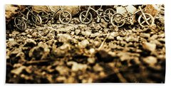 Rustic Mountain Bikes Hand Towel