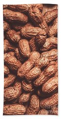 Rustic Nuts Background  Bath Towel