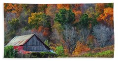Rustic Out Building In Southern Ohio  Bath Towel