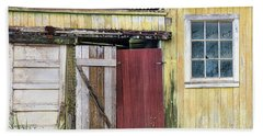 Rustic Shed Panorama Hand Towel