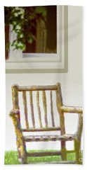 Rustic Wooden Rocking Chair Bath Towel
