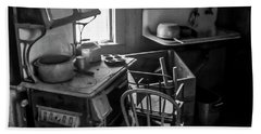 Rusting Pots And Pans, Bodie Ghost Town Bath Towel