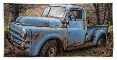Rusty Blue Dodge Hand Towel