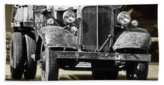 Rusty Dump  Truck Hand Towel by Ansel Price