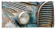 Rusty Ford 85 Truck Hand Towel by David Lawson
