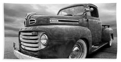 Rusty Jewel In Black And White - 1948 Ford Bath Towel