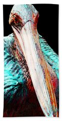 Rusty - Pelican Art Painting By Sharon Cummings Hand Towel