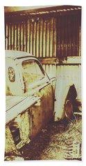 Rusty Pickup Garage Bath Towel