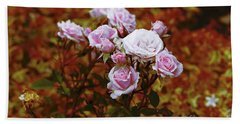 Bath Towel featuring the photograph Rusty Romance In Pink by Ivana Westin