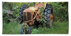 Rusty Tractor 3  Bath Towel
