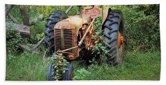Rusty Tractor 3  Bath Towel by Joyce Wasser