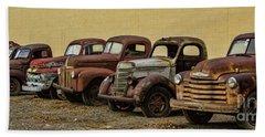 Rusty Trucks Hand Towel by Steven Parker