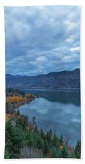 Ruthton Point During Evening Blue Hour Hand Towel