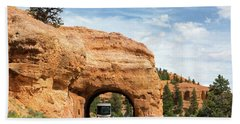 Rv Red Canyon Tunnel Utah Hand Towel