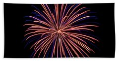 Rvr Fireworks 48 Bath Towel by Mark Dodd