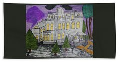 Hand Towel featuring the painting S M Stephenson Home by Jonathon Hansen