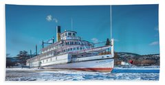 Hand Towel featuring the photograph S. S. Sicamous by John Poon
