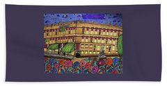 Hand Towel featuring the painting S.m Stephenson Hotel by Jonathon Hansen