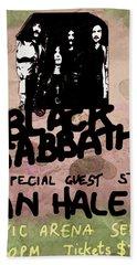 Sabbath Tour Pittsburgh Pa 1978  Hand Towel