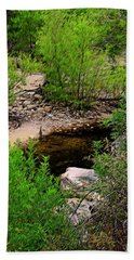 Bath Towel featuring the photograph Sabino Canyon Op44 by Mark Myhaver