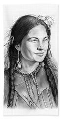 Sacagawea Hand Towel by Greg Joens