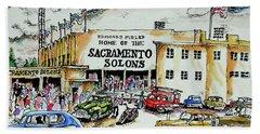 Sacramento Solons Hand Towel by Terry Banderas