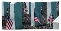 Hand Towel featuring the photograph Sacramento Valley Veterans Cemetary by Bill Gallagher