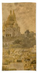 Paris, France - Sacre-coeur Oldplate Bath Towel