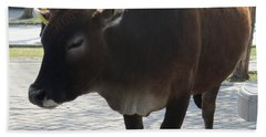 Hand Towel featuring the photograph Sacred Cow 2 by Randall Weidner