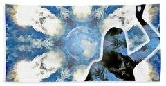 Hand Towel featuring the digital art Sacred Feminine Eclipse by Derek Gedney