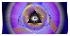 Sacred Geometry 642 Hand Towel by Endre Balogh