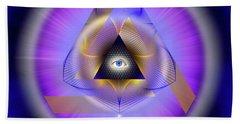 Sacred Geometry 642 Bath Towel by Endre Balogh