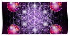 Bath Towel featuring the digital art Sacred Geometry Metatron by Alexa Szlavics