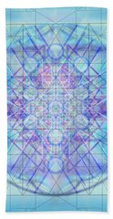 Hand Towel featuring the digital art Sacred Symbols Out Of The Void A3c by Christopher Pringer