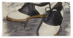 Saddle Shoes Hand Towel by Kelly Mills