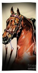 Saddlebreds Bath Towel by Cheryl Poland