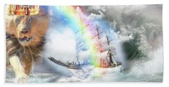 Bath Towel featuring the digital art Safe Harbor  by Dolores Develde