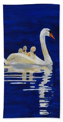 Bath Towel featuring the painting Safe Harbor by Rodney Campbell