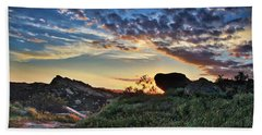 Sage Ranch Sunset Hand Towel by Endre Balogh