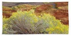 Sagebrush In The Malheur National Wildlife Refuge Hand Towel