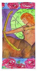 Hand Towel featuring the painting Sagittarius by Cathie Richardson
