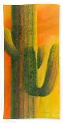 Saguaro In Summer Bath Towel