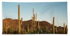 Saguaro National Park Desert Sunrise Panorama Bath Towel