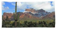 Saguaros Cholla Superstition Mountains Hand Towel