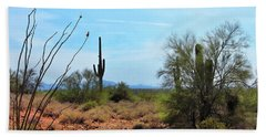 Saguaros In Sonoran Desert Hand Towel