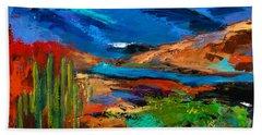 Saguaros Land Bath Towel by Elise Palmigiani