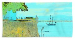 Sail On Hand Towel by Tito Santiago
