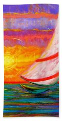 Sailaway Hand Towel by Jeanette Jarmon